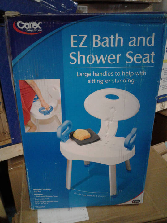 Bath Safety Carex Preium Bath Chair With Back